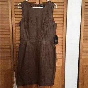 Spencer Jeremy brown leather dress